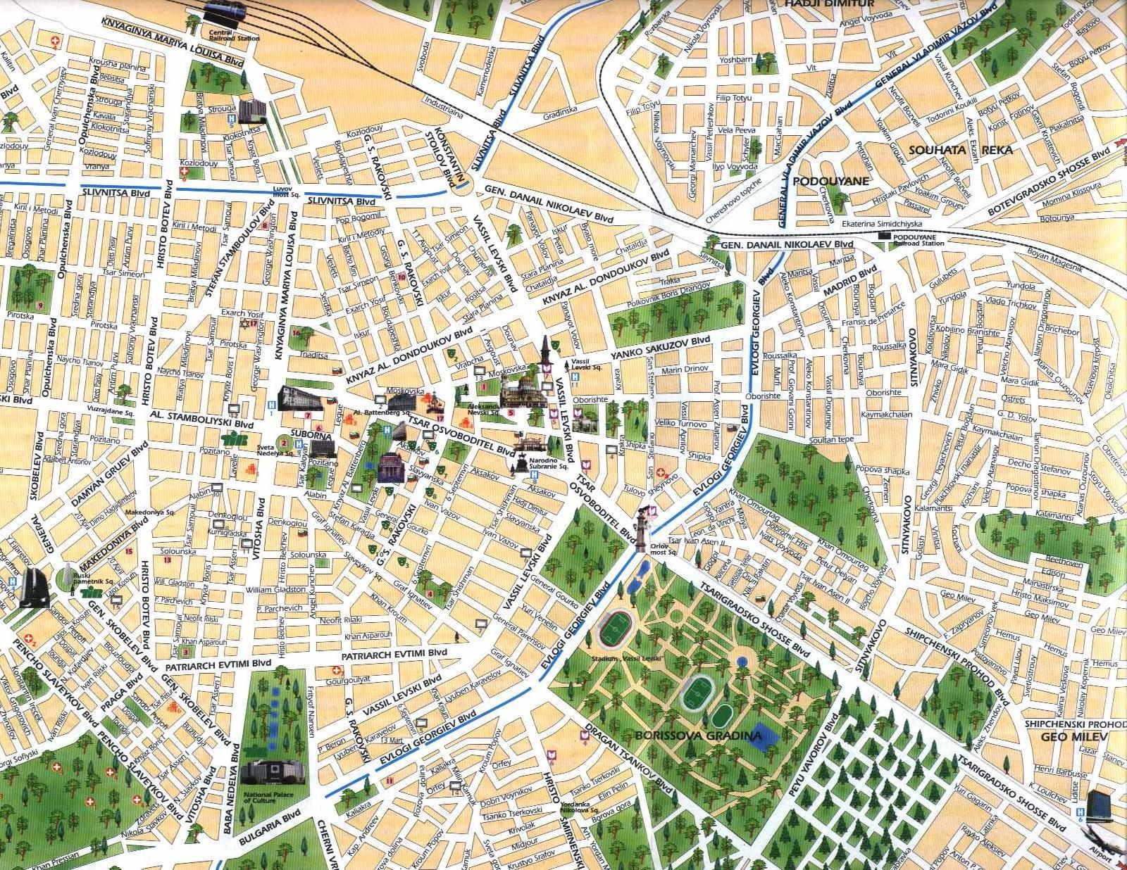 Sofia Map City Map Of Sofia Interactive Online Map